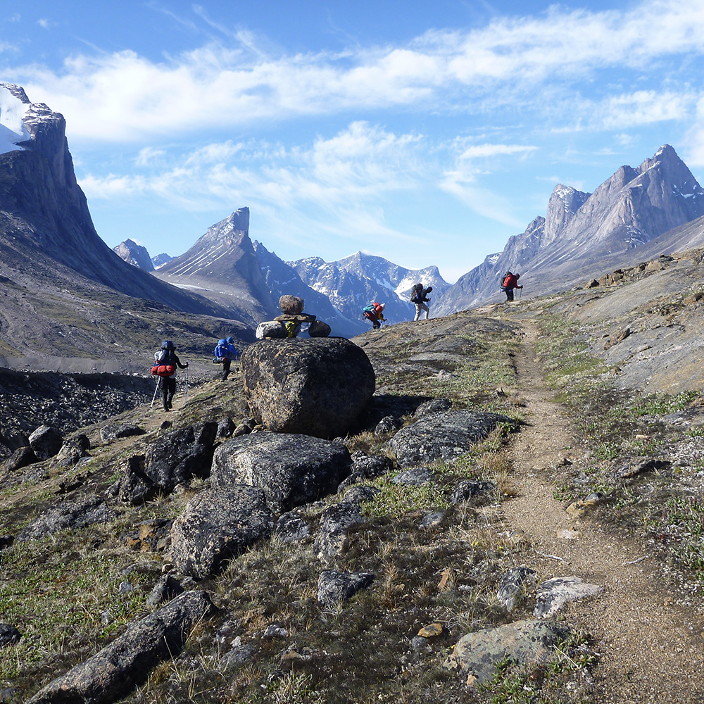 Auyuittuq hiking group (Black Feather)
